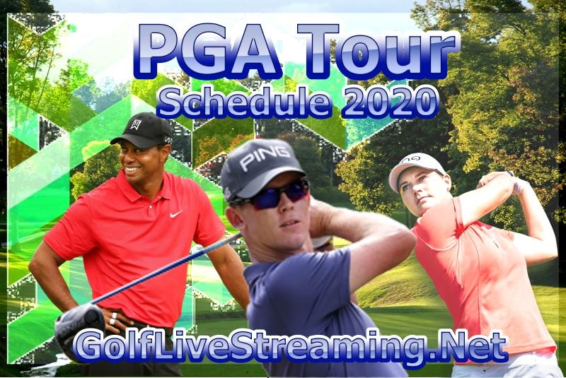 PGA Tour Golf Schedule 2020