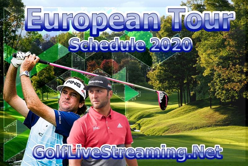 European Tour Golf Schedule 2020