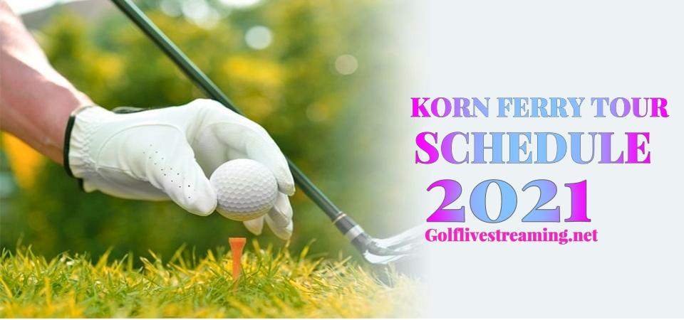 Golf Korn Ferry Tour 2021 Schedule Live Stream