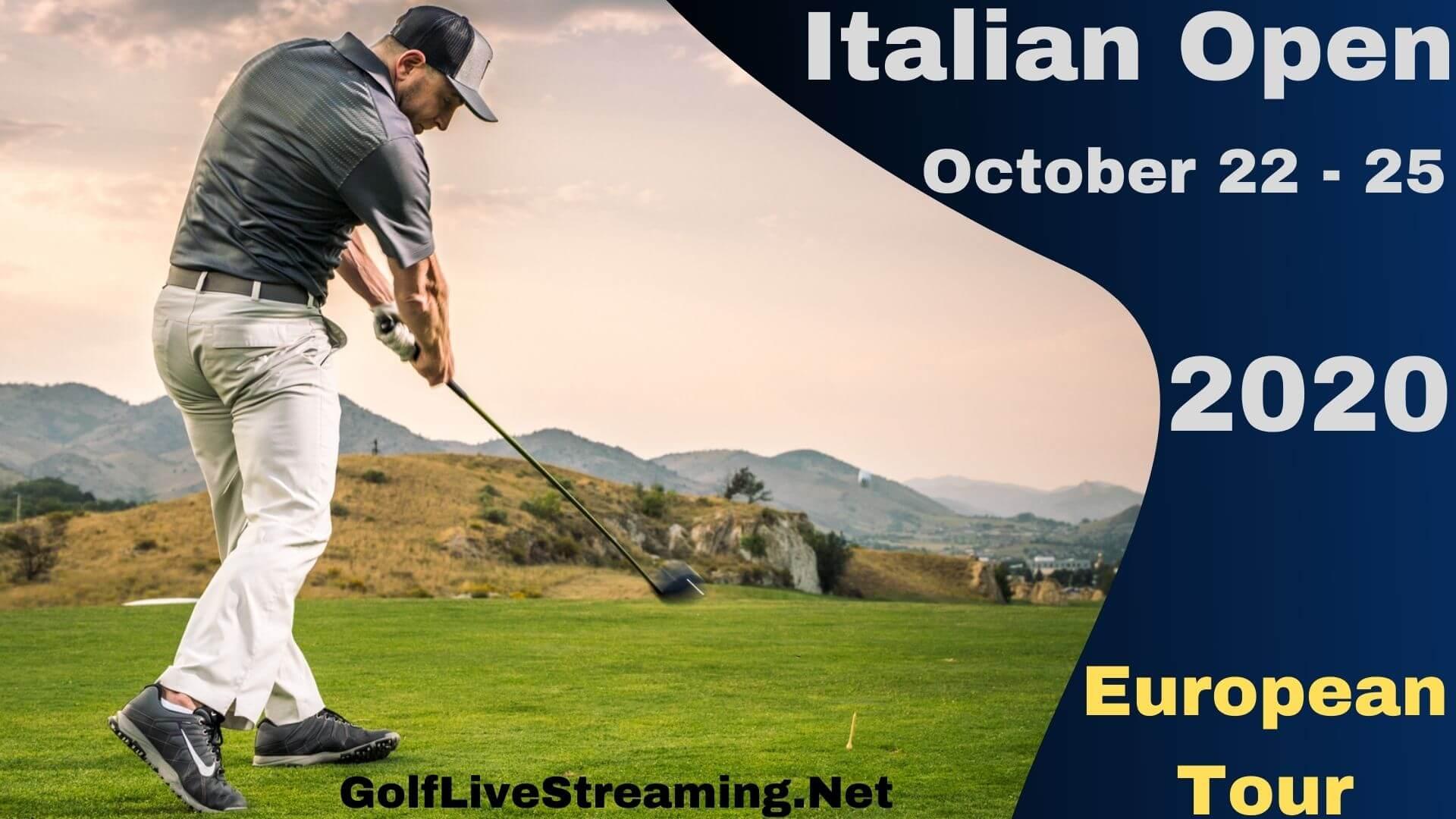 Italian Open Live Stream 2020   European Tour Round 1