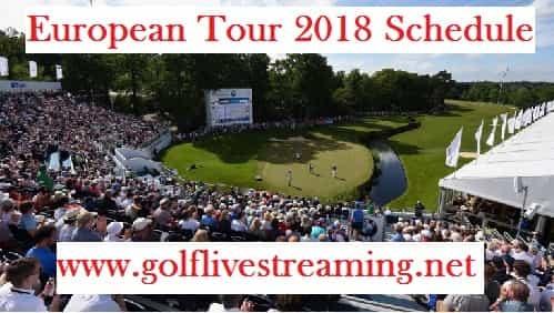 European Tour 2018 Schedule